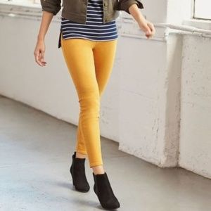 J.CREW TOOTHPICK Ankle MUSTARD YELLOW Skinny Jeans